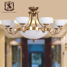 Modern 8 Arm Glass Copper Chandelier Lighting Bl8017-8(China (Mainland))