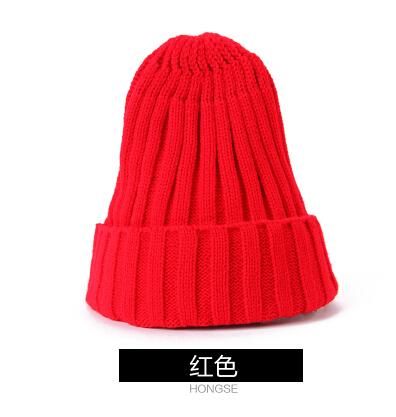Koeran Style Winter Hats For Men And Women Casual Fashionable Wool Hats Red Green Purple Dark Blue Yellow Rose Black(China (Mainland))