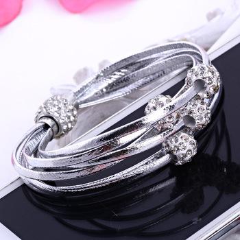 Преувеличены винтажный двойной влюбленность очаровательный браслет и браслеты для ...