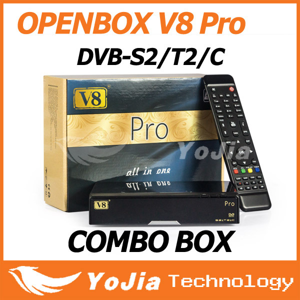 1pc Openbox V8 Pro Combo Receiver DVB-S2&T2&C V8 Pro satellite receiver Support Cccamd Newcamd Youtube Youporn USB Wifi VOD(China (Mainland))