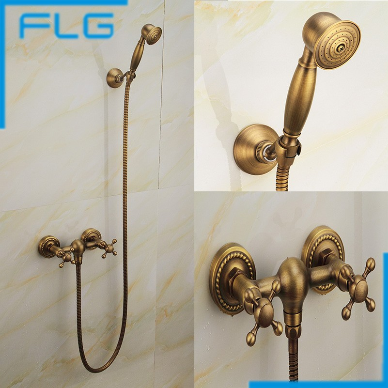 2016 Antique Colour Shower Faucet Bath Mixer FLG Factory Direct Sale, Antique Hand Shower Set FLG40016A(China (Mainland))