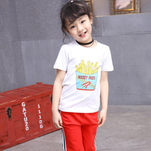 Buy girls tees 4 5 6 7 8 9 10 11 12 13 years clothes girls teenagers baby girl t shirt short sleeve print white tshirt kids for $13.75 in AliExpress store