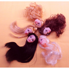 Quality Doll Head with Colorized Hair DIY Accessories For Barbie Doll Baby DIY Toys(China (Mainland))