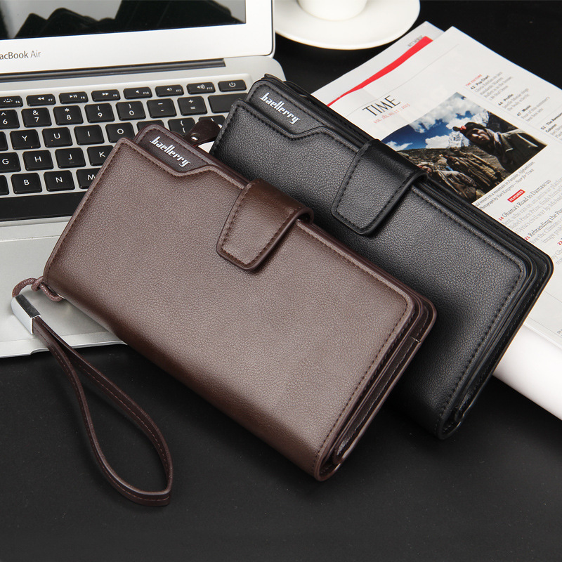 Baellerry Baelerry Luxury famous brand Leather Mens Wallet Zipper Long Male Purse Clutch Carteira With Coin Pocket Card Holder(China (Mainland))
