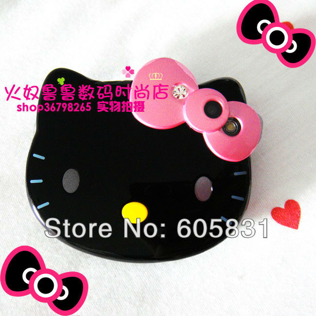 2015 Newest fashion Cartoon Mobile phone for kids Hello Kitty Touch screen single card Unlocked GSM cell phones Free Shipping(China (Mainland))