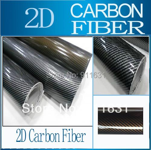 """4""""x50"""" 10cmx127cm Car Glossy 2D Carbon Fiber Vinyl Foil Carbon Fiber Wrapping Film High Quality Calendared PVC For Car(China (Mainland))"""