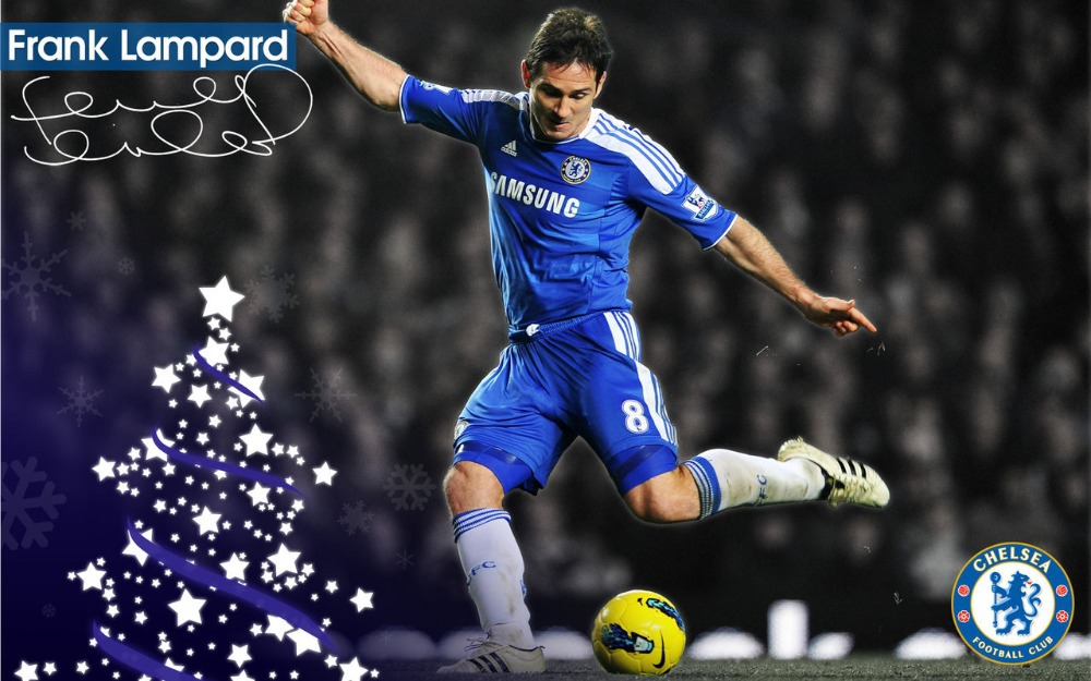 Frank Lampard With His Signature Chelsea Poster Wall Decoration Art Print 24X36 inch(China (Mainland))