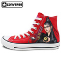 Red Men Women s Converse Chuck Taylor Classic Unisex Canvas Shoes Anime Bayonetta Design Hand Painted