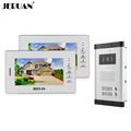 JERUAN Wholesale Apartment 7 Video Intercom Door Phone Entry System 2 Monitors 1 Doorbell Camera for