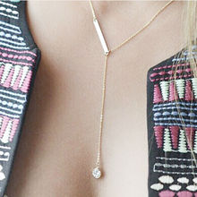 Fashion necklaces for women collar necklace elongated metal pendants 5 style sexy jewelry multilayer chain necklace