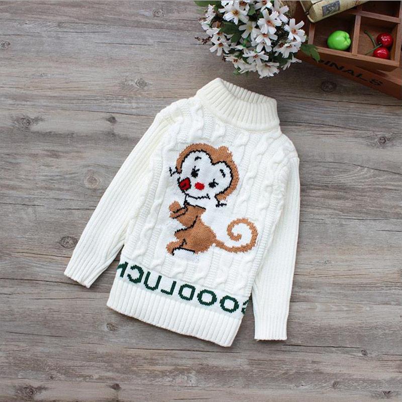 New Unisex winter autumn infant Cartoon high collar boy girl child sweater baby turtleneck sweater children pull-over sweater(China (Mainland))
