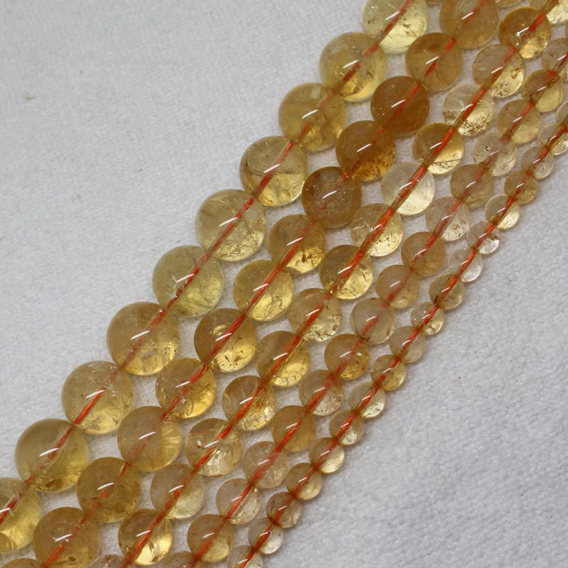Free shipping! 6\8\10\12\14mm Beautiful Natural Citrine Round Loose Beads 15<br><br>Aliexpress