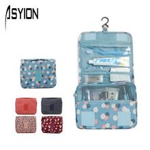 ASYION Makeup Bag Top Polyester Waterproof Cosmetic Bag Organizer Pouch Storage Multi Function Hook Travel Washing Bags XP5403(China (Mainland))