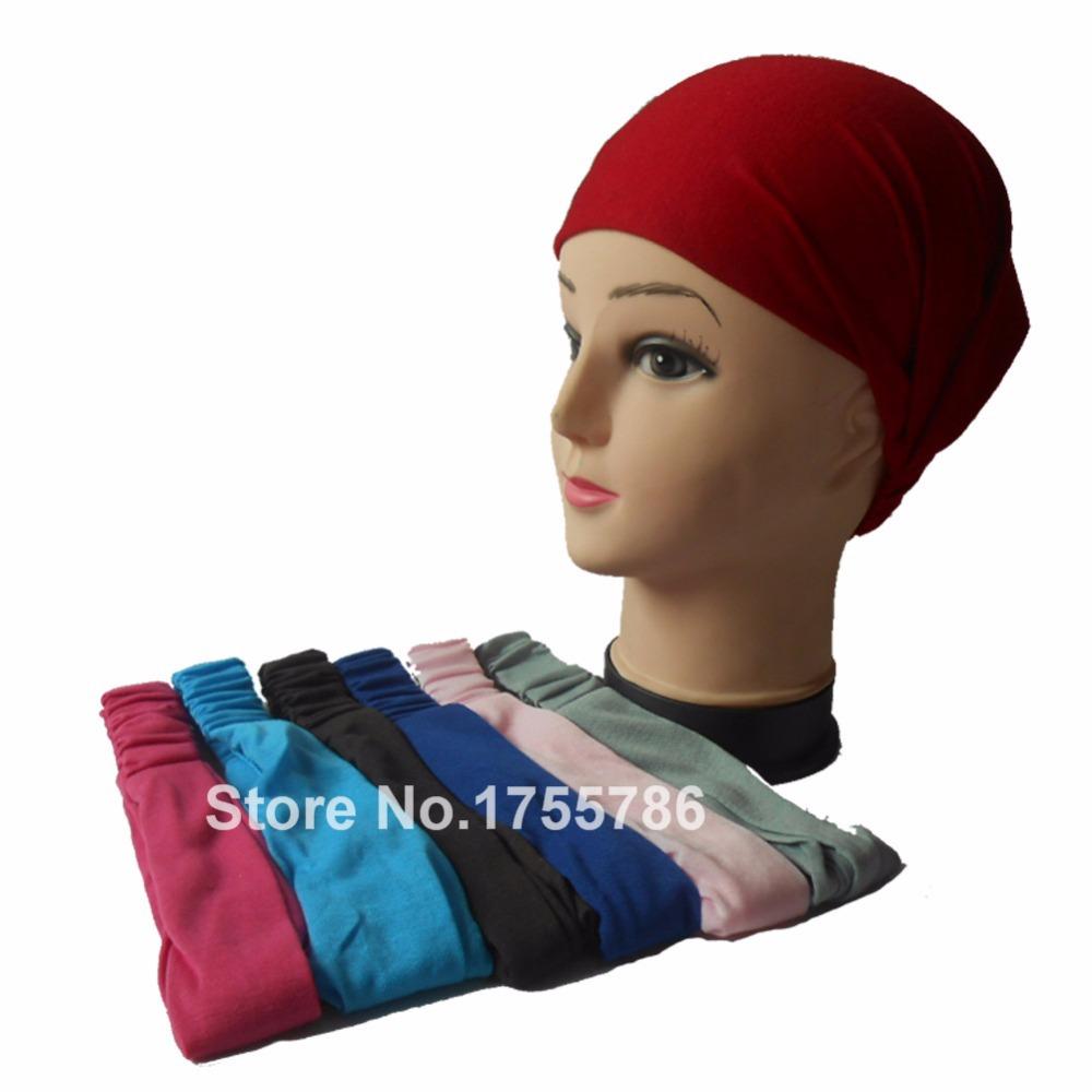 2pcs/lot Solid Color Women's Multi-function Head Scarf Bandana Elastic 3 in 1 Headband Wrap Wristband Hair Plain Sports Bands(China (Mainland))