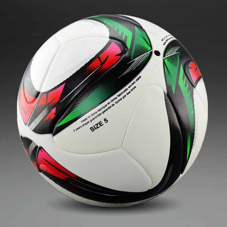 2016 Conext15 European Qualifiers Soccer Ball Official Size&Weight Laminated Surface PU Leather Football Ball Free Shipping(China (Mainland))