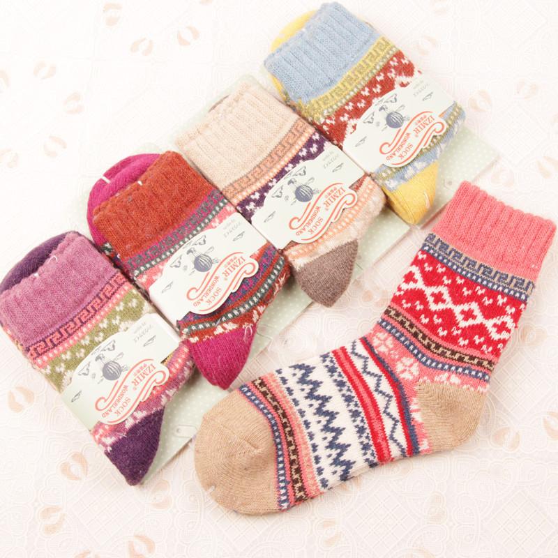 2014 Freeshipping 5pairs/lot women men sale hot new Retro super thick warm manufacturer wholesale rabbit wool socks 6911Одежда и ак�е��уары<br><br><br>Aliexpress