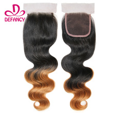 Brazilian Virgin Hair Ombre Closure Ombre Brazilian Human Hair Frontal Closure Free Part Middle Part Three Part Lace Closure
