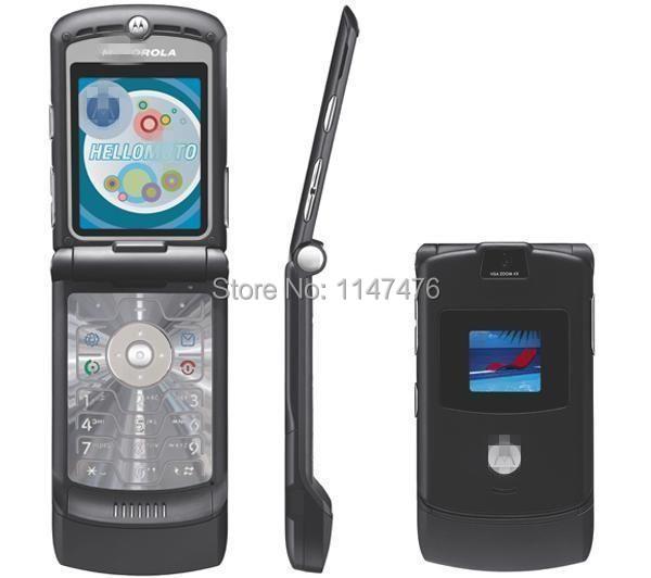 Free shipping 100% original Motorola RAZR V3 unlocked cell phone support English&Russian&Arabic&Hebrew keyboard mobile phone(China (Mainland))