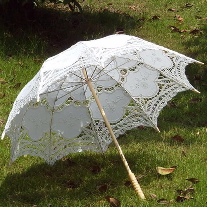 Aliexpress Buy 2015 Bridal Umbrella White Lace Parasol Handmade Summer Battenburg Lace