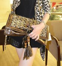 New Arrival Evening Bags Fashion Clutch Women's Day Clutch Messenger Bag Rivet Vintage Tassel Bags