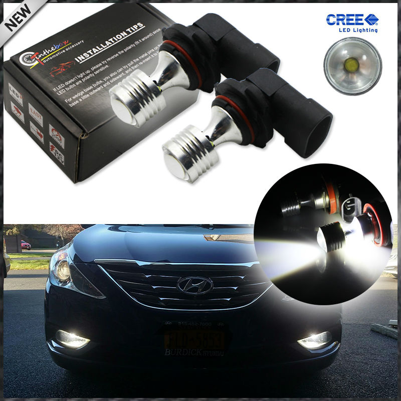 , 2 6000K Xenon White 20W High Power CRE'E 9006 HB4 9012 LED Replacement Bulbs Fog Lights Driving Lamps, Driving Lights