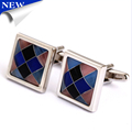 2015 Hot cufflinks Colorful squares stone sumptuous cufflinks for party wedding