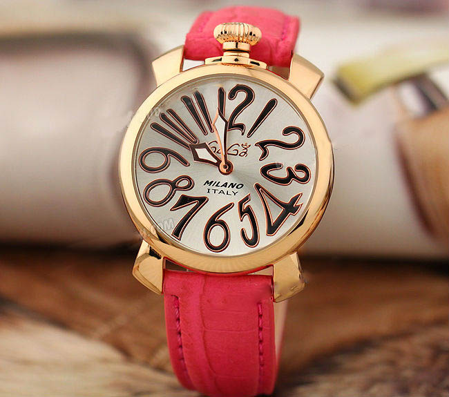 pink trendy luxury brand women watch golden genuine leather band lady gaga watches 30m water resistent relogio feminino vintage(China (Mainland))