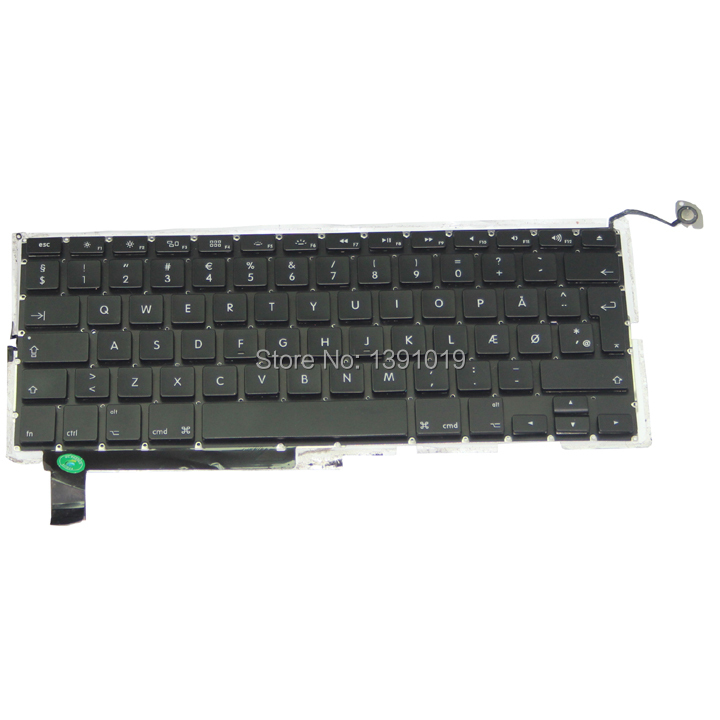 Denmark Keyboards For Apple Macbook Pro A1286 Denmark Keyboard Replacement Keyboards(China (Mainland))