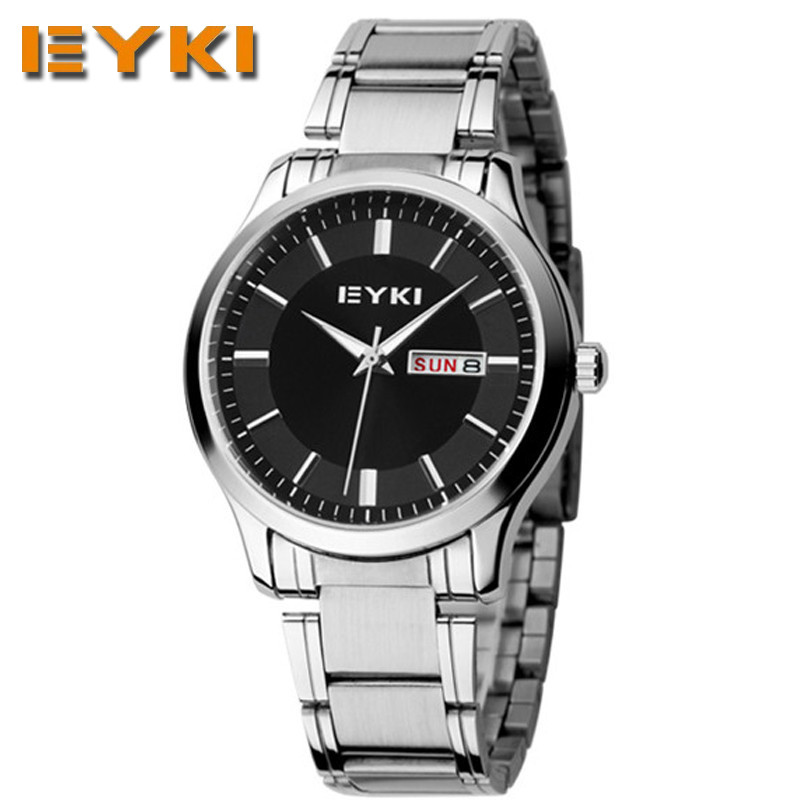 EYKI Mens Watches Top Brand Luxury Business Watch Men's Fashion Clock Men Casual Sport Reloj Hombre Stainless Steel Quartz Watch(China (Mainland))