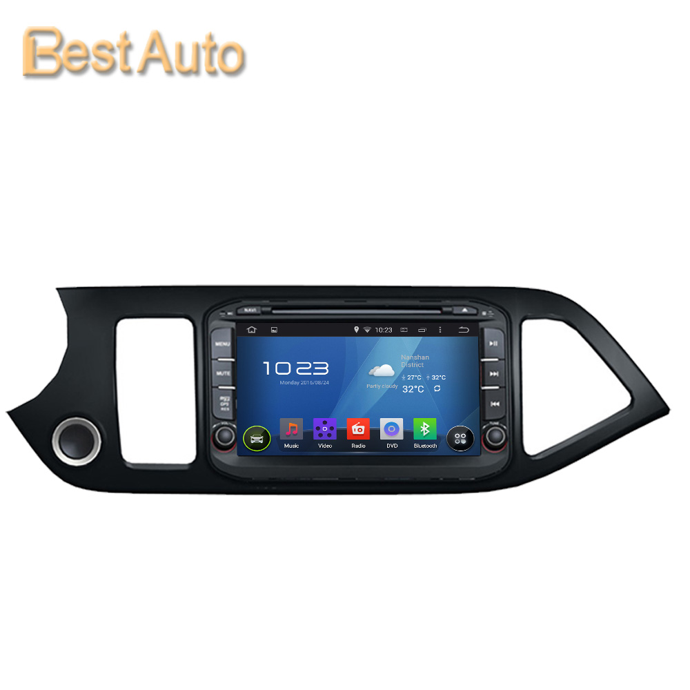 8'' Quad Core CPU HD Screen 1024*600 Android 5.1 Car DVD GPS Navigation for KIA Picanto 2014 Built in Wifi Worldwide language(China (Mainland))
