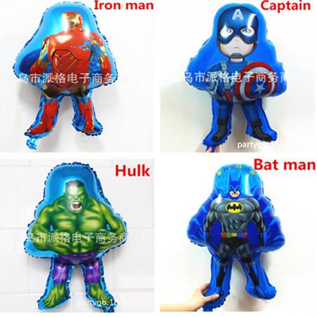 chinese balloon The avengers balloon.party and event collection.spider man iron man,bat man,super man,hulk,captain shape balloon(China (Mainland))