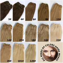 European Virgin Straight Hair Weaves Brown Blonde Colors European Remy Hair Bundles 100g 6A Unprocessed Virgin Hair Straight