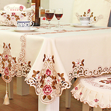 1 Piece European Rural Peony Embroidered Table cloth/ High-grade Tea Table Cloth Chair Cushion/ Table Runner Round Table Cloth(China (Mainland))