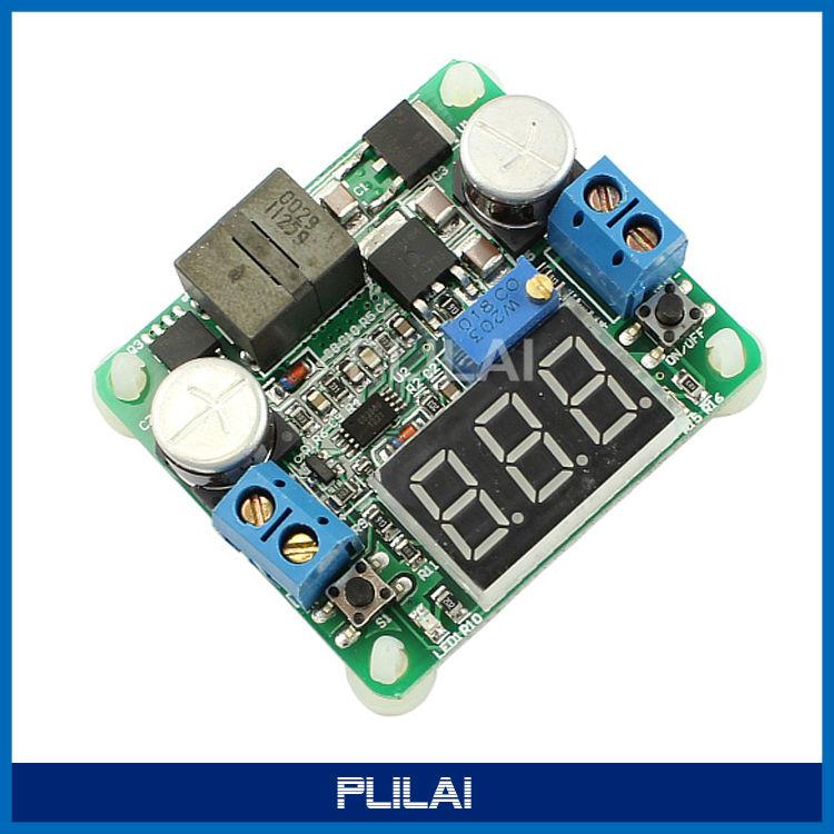 DC 6V/12V/24V Adjustable Step up/down Power Supply Module Boost Buck Voltage Converter Voltmeter Display 5-25V 0.5-25V 25W 2A - PLILAI store