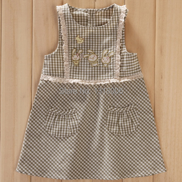 summer style Organically Grown Natural Color Cotton Baby Dress M14A1001-BC(China (Mainland))