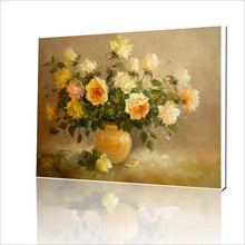 Hot Selling Frameless Pictures Painting By Numbers DIY Digital Oil Painting On Canvas Coloring By Number 40*50cm flower G052(China (Mainland))