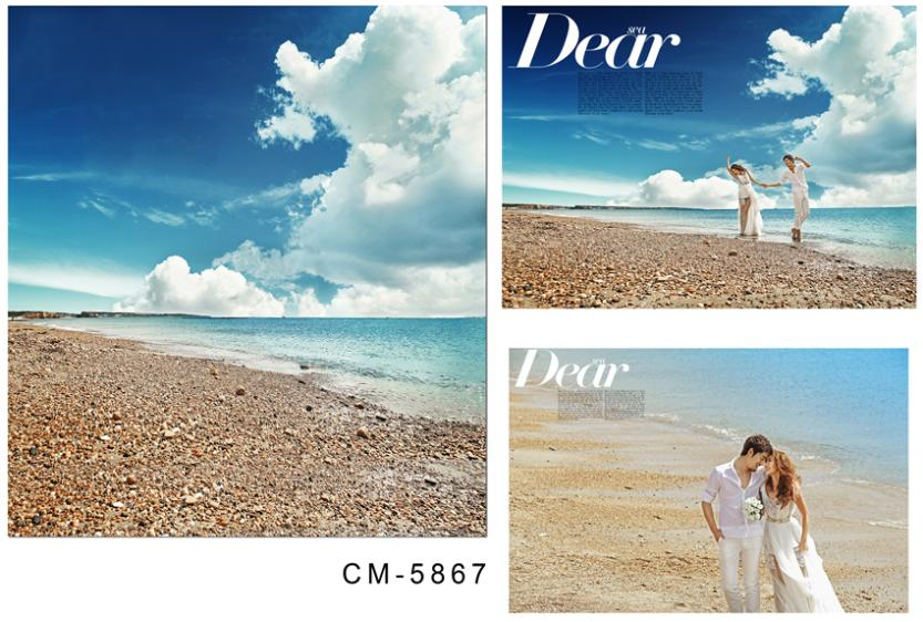 3M*6M(10FT*20FT)Blue and white beach photography backdrops seniorWedding backgroundcm-5867<br><br>Aliexpress