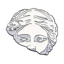QIHE QH-GIOIELLI Blu Dei Capelli Del Fiore Statua Smalto Spille Classico spille Risvolto Spilli per ragazza delle donne degli uomini Distintivi e Simboli Spilli up(China)