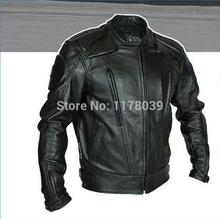 Новинка 2015 года. Мужская куртка для мотоциклиста из полиуретана. Защищающий гоночный костюм. Куртка из искусственной кожи высокого качества.
