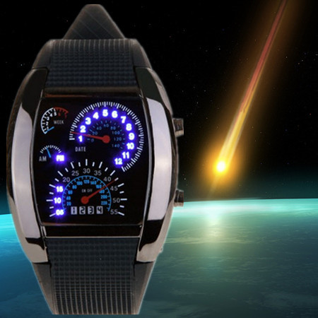 Electronic Light Digital LED Military Watch Race Speed Car Dot Fashion Luxury Brand Rubber Strap Men Sports Watches orologio(China (Mainland))
