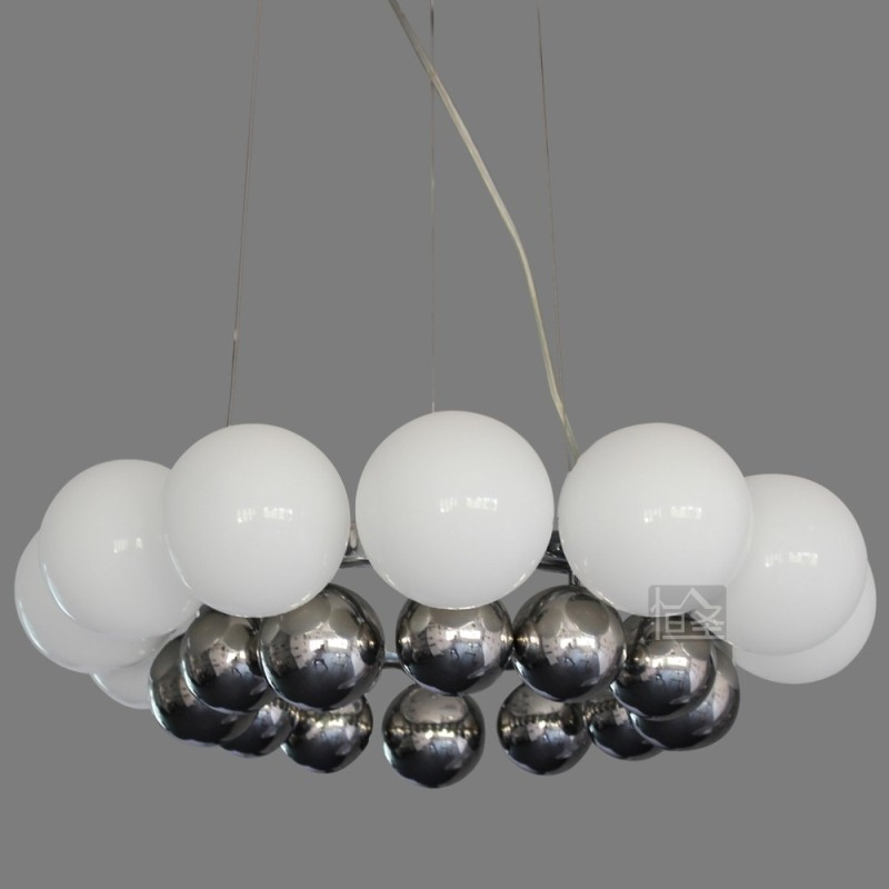 European pastoral modern minimalist fashion chandelier hanging LED chandelier glass dining table bedroom living room lamps light(China (Mainland))