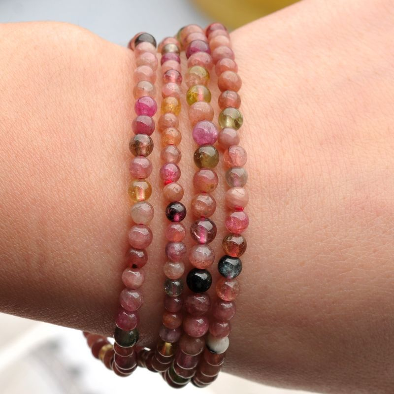 [ Temporarily sold out ] dainty delicate mix and match natural small Brazilian candy Tourmaline Bracelet(China (Mainland))