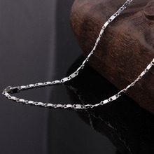 silver plated figaro chain necklace wholesale jewelry accessories for women party gift length 16 18 20