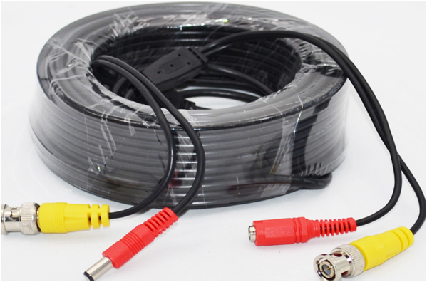 100M Combination extension CCTV Security Camera system cable diameter 4.5mm with BNC&DC Connectors (100M)(China (Mainland))