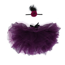 9 Colors Beautiful Newborn Baby Tulle Tutu Skirt Fashion Toddler Photograph Props Set With Bowknot Flower Hairband Vestidos(China (Mainland))