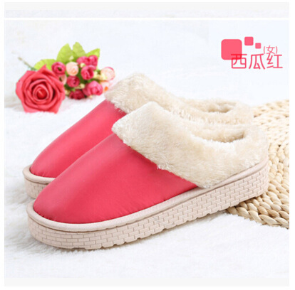 Waterproof Slippers Women/Men Fluffy House Slipper 6 Colors 5 Sizes Fit EUR 35-43 US 5-9.5(China (Mainland))