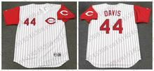 Retro DEION SANDERS BARRY LARKIN Baseball jersey ERIC DAVIS CHRIS SABO jersey Throwback White red stripe Mens Stitched jerseys(China (Mainland))