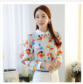 The new 2015 fashion women's clothing Cultivate one's morality printing doll brought the spring snow spins unlined upper garment(China (Mainland))