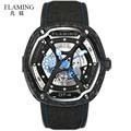 FLAMING Dietrich Series Organic Time OT 4 Forge Carbon Fiber Bezel Watches Men Luxury Automaitic Movement