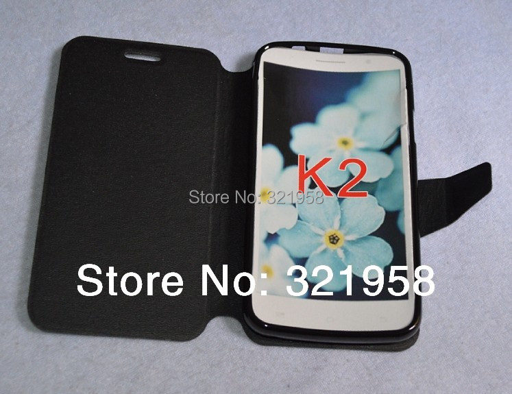 Original Pu Leather Flip Case for Newman K2S Android Phone black and white 2 color Clear stock(China (Mainland))